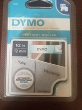 "Genuine Sealed OEM DYMO® 45110 Black-On-Clear Tape, 0.5"" x 13' - $29.28"