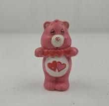 "Vintage AGC 1983 Care Bear 2"" PVC Figure Love-a-Lot Pink Holding Heart B... - $7.00"