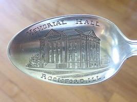 1956 Memorial Mall Rockford IL Illinois Sterling Silver Souvenir Spoon Teaspoon - $37.99