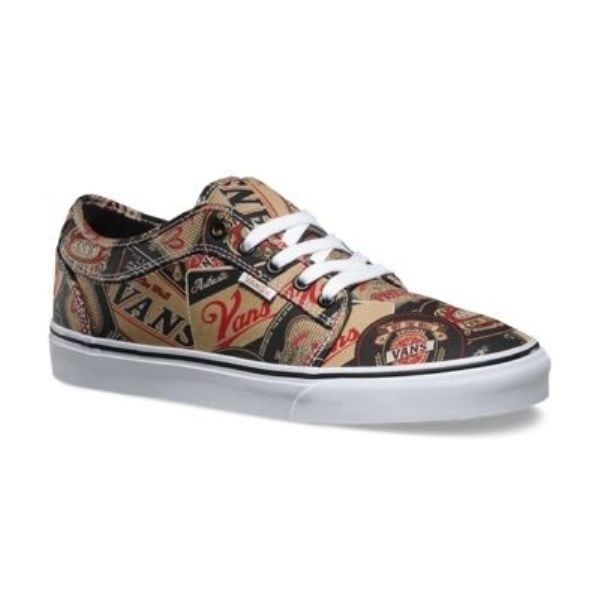 VANS Chukka Low (Labels) Black & Tan UltraCush Skate Shoes MEN'S 6.5 WOMEN'S 8