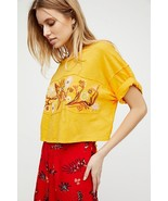 Free People Garden Time Embroidered Tee L - $51.47