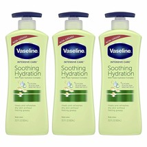 Vaseline Intensive Care Aloe Soothe Body Lotion With Pure Aloe (Pack of 3) - $29.67