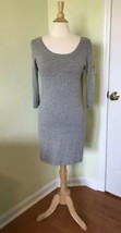 Gap Factory SMALL Dress Light Gray Long Sleeve Sweater Knit Womens cotto... - $13.99