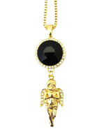 Mens Iced CZ Black Onyx Angel Rich Homie Quan Rick Ross Birdman Pendant ... - $9.49