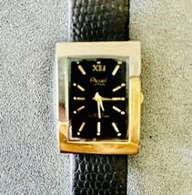 Vintage Acuet Japan Quartz Movement Water Resistant Wristwatch w/ Leather Band - $10.89