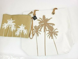 PARADE STREET PRODUCTS Palm Tree Tropical Canvas Tote Bag Set - $14.95