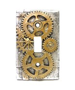 4.25 Inch Resin Steampunk Light Switch Plate Cover, Gold/Gray - $9.90