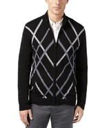 Alfani, Men's, Pattern Zip-Front Cardigan, Deep Black, Sz. Small - $33.96