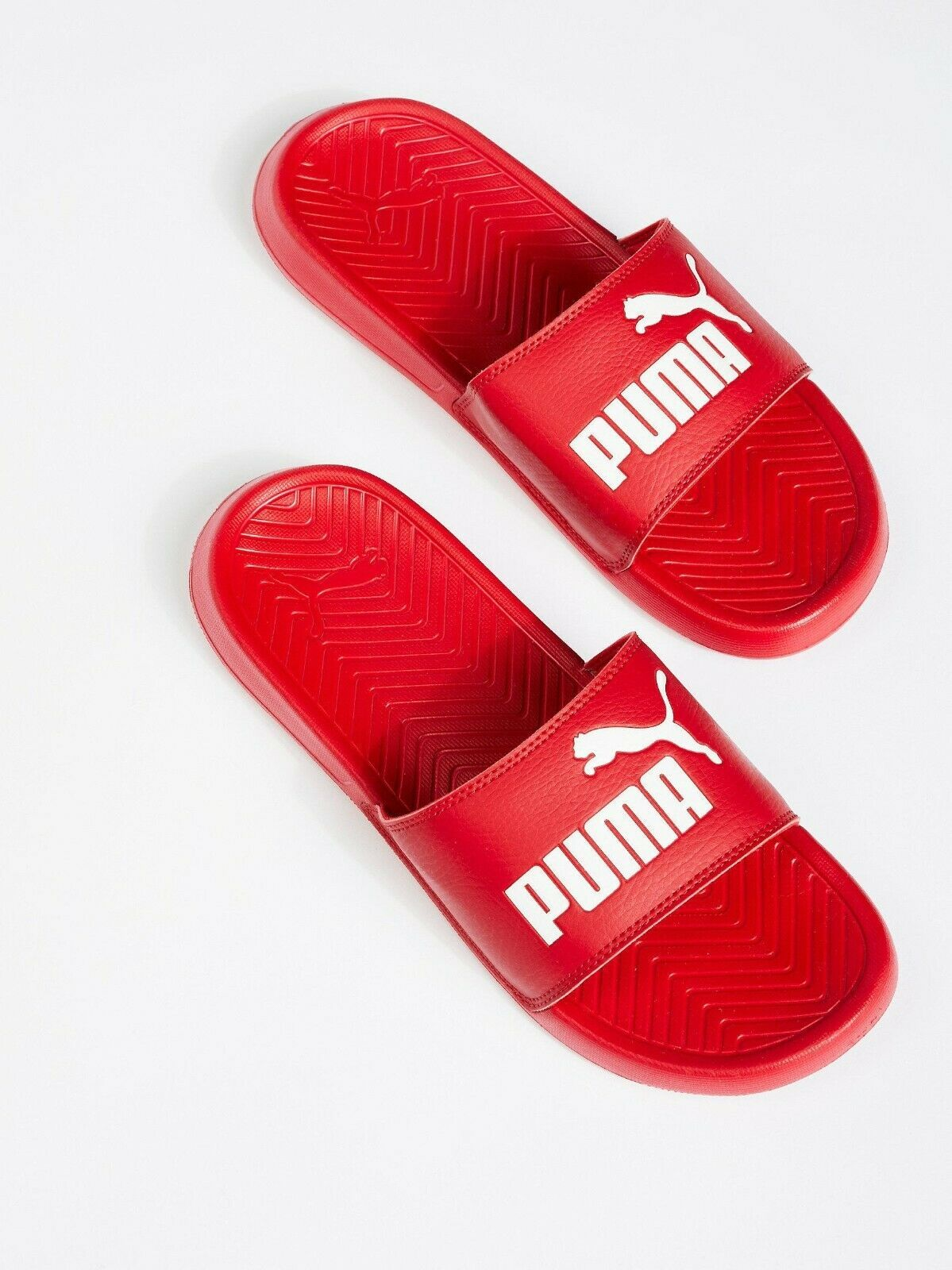 Primary image for WOMEN'S PUMA POPCAT HIBISCUS-PUMA WHITE SLIDE SANDAL Size US 10.5 FREE SHIPPING