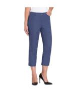 Hilary Radley Women's Stretch Slim Leg Crop Pant, Blue Size 8 - $14.84