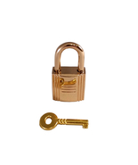 Gold Padlock & Key Purse Accessory Jewelry Luxury Craft Handbag - $28.00