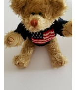 TY, MOVEABLE ARMS & LEGS,  AMERICAN SWEATER, STUFFED BEAR - $12.92