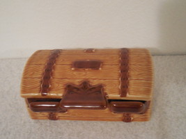 Vintage Wade Porcelain Treasure Chest Box, Pottery Trunk made in England - $25.00