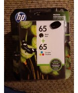 Genuine HP 65 Black & Color Ink Cartridge Combo Pack T0A36AN Exp 12/2019 - $23.75