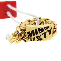 MISS SIXTY Stylish Ring With Genuine Faux pearl Made in Gold Plated Steel - $24.99