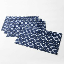 "C. Wonder Navy Blue Octagon Boardwalk Placemats Set Of 4. 13"" x 19"" - $15.99"