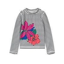 NWT Gymboree Vitamin Sea HIbiscus Girls Long Sleeve Rashguard Swim Shirt 5-6 - $9.74
