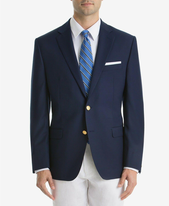 RALPH LAUREN Mens UltraFlex Classic Fit Sport Coat Navy Size 43 Long $350 - NWT - $98.01