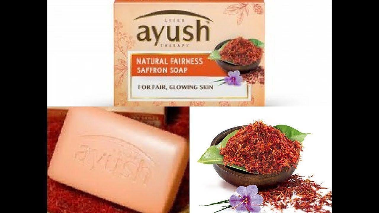 Ayush Natural Fairness Saffron Soap| Skin brightening glowing 100 gm