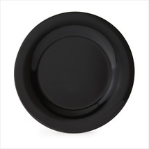 Black Elegance 10.5 inch Wide Rim Plate Black Melamine/Case of 12 - $215.53