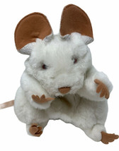 """Folkmanis Plush White Mouse Rat Hand Puppet 7"""" Adorable Soft Stuffed Animal Toy - $14.99"""