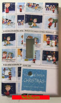 Peanuts Charlie Brown snow USPS Stamps Switch Power Outlet Cover Plate Home deco image 1