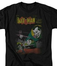 Batman Joker T-shirt SuperFriends retro 80s cartoon DC black graphic tee DCO161 image 1