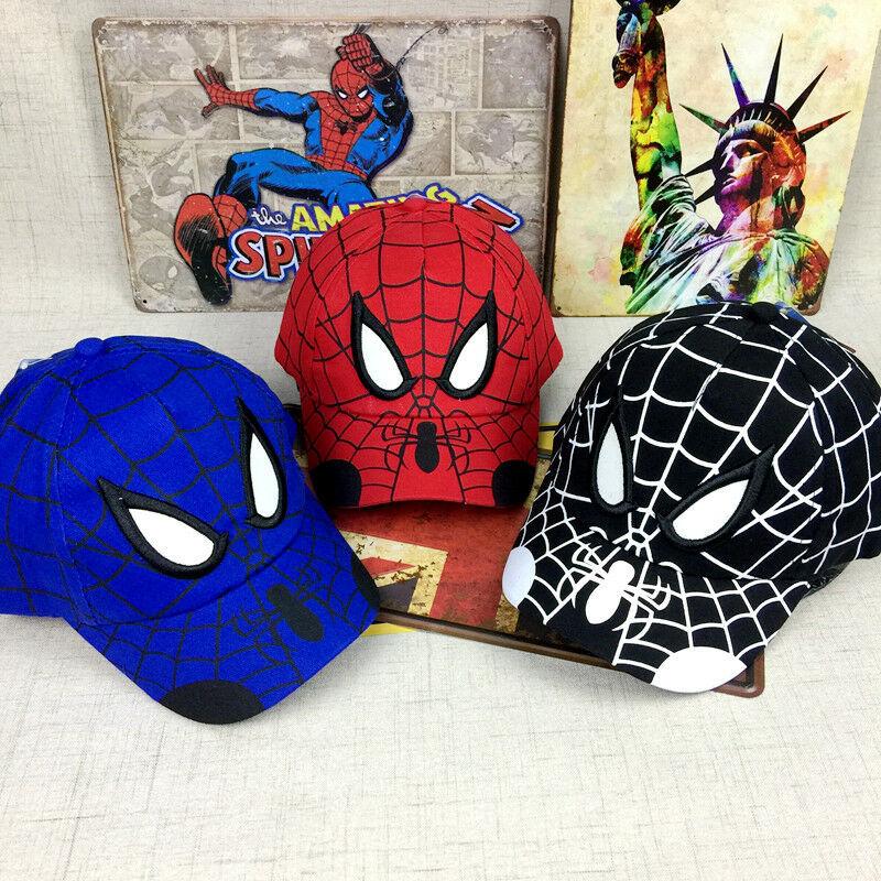 Kid Toddler Children Boy Girl Spiderman Peaked Snapback Hat Baseball Cap Hip-Hop