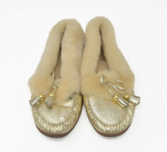 Coach FIONA Women's Sz 10B Gold Shearling Slip On Comfort Moc Moccasin S... - $39.95