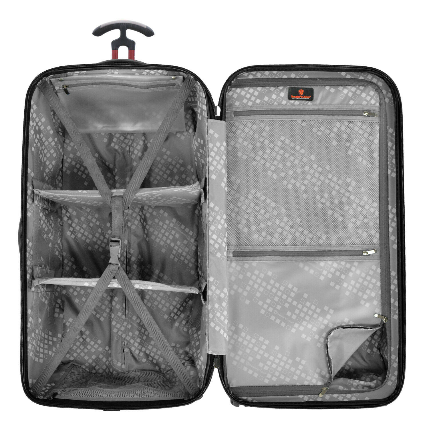 """Traveler's Choice Maxporter II Polycarbonate 30"""" Trunk Spinner Luggage Suitcase"""