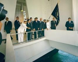 President John F. Kennedy visits USS Arizona Memorial in Hawaii New 8x10... - $8.81