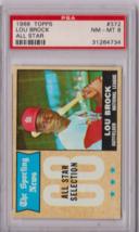 1968 Topps Lou Brock All Star #372 PSA 8 P653 - $40.56