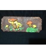 mushroom plac 3D wall hanging Retro - $27.09