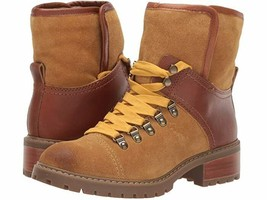 FRYE AND CO. Anise Hiker Cognac Suede/Smooth Full Leather Women's Boots 7M - $127.71