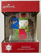 Hallmark 2018 Snowman Christmas Ornament/ - $0.98