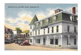Hardwick Inn and Main Street Hardwick VT Vintage Tichnor Linen Postcard - $4.99