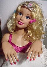Mattel Barbie 2013 Styling Head Tilting Head and Moving Arms w/Tiara & Bows - $29.95