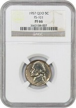 1957 5c NGC PR 66 (FS-101) - Jefferson Nickel - $659.60