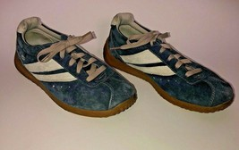 Skechers Retro Sneakers Scooters Blue White Lace Up SN 2980 Leather Uppe... - $24.75