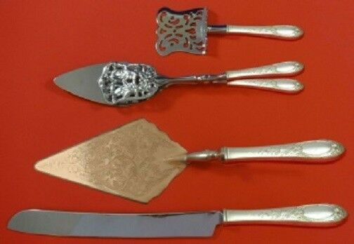 Primary image for Primrose By Kirk Sterling Silver Dessert Pastry Serving Set HHWS 4pc Custom