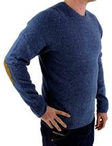 Levi's Men's Wool Pullover Crew Neck Elbow Patch Sweater New w/Defect S image 3