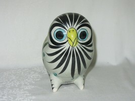 Vintage Tonala Mexico Mexican Painted Ceramic Pottery Owl Folk Art Blue ... - $59.39