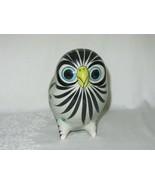 Vintage Tonala Mexico Mexican Painted Ceramic Pottery Owl Folk Art Blue ... - $59.39