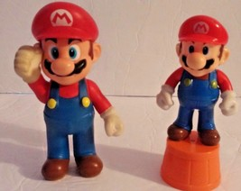 "Nintendo Super Mario Brothers Mario 5"" & 3.5"" Plastic Figures from 2008 - $13.99"