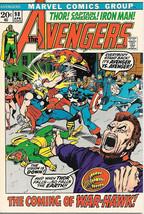 The Avengers Comic Book #98, Marvel Comics Group 1972 VERY FINE - $33.78