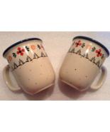 BOLESLAWIEC POLISH POTTERY 2 COFFEE/TEA MUGS 12 oz - $23.99