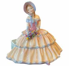 "Royal Doulton ""Daydreams"" Figurine HN 1731 Rare 1935 *Chip on Bonnet* - $49.95"