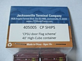 Jacksonville Terminal Company # 405005 CP Ships 40' Container N-Scale image 2
