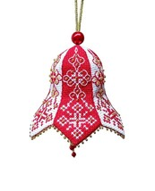 Embroidery Kit Christmas Bell Tree Decoration, Nordic Print Cross Stitch... - $9.34