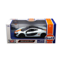 McLaren P1 with Gulf Livery Light Blue with Orange Stripe 1/24 Diecast M... - $29.47